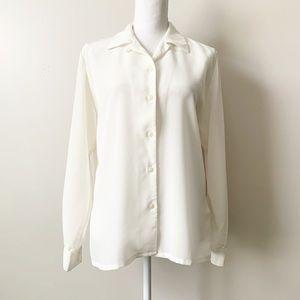 Sophisticates by Pendleton Classic White Blouse